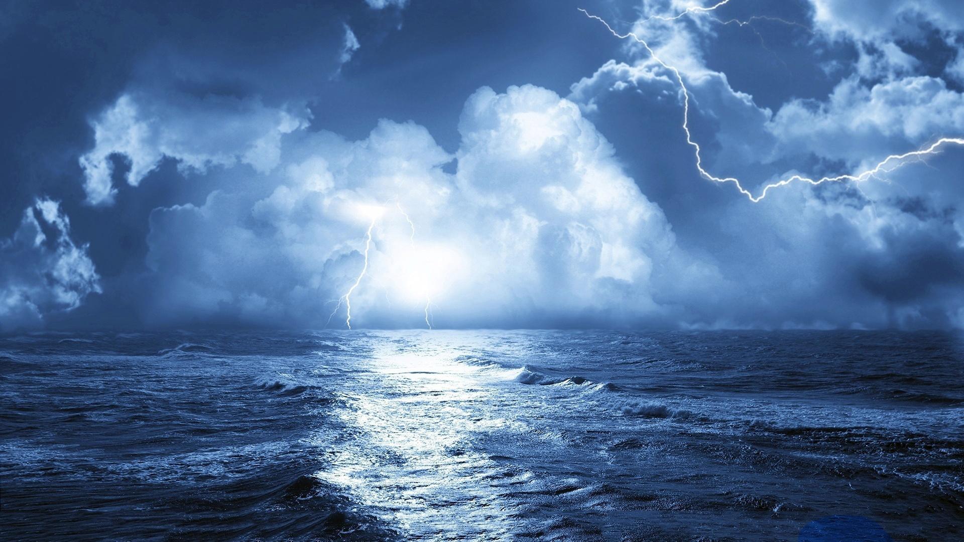 Storm at sea.