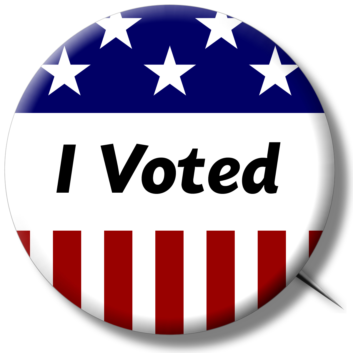 """I voted"" sticker."